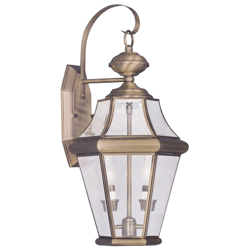 Livex Lighting Livex Lighting Georgetown Antique Brass Outdoor Wall Light 2261-01
