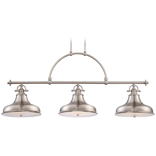 Quoizel Lighting Quoizel Emery Brushed Nickel Island Light ER353BN