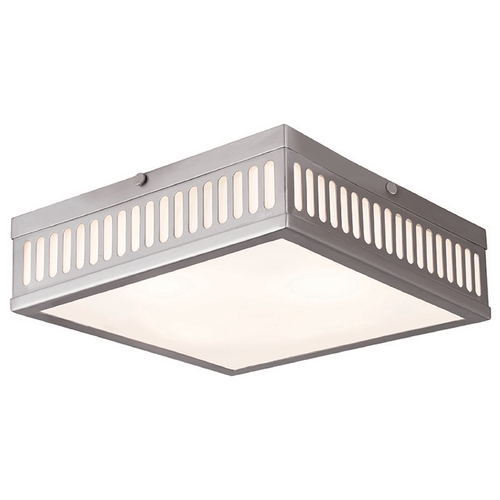 Livex Lighting Livex Lighting Prentice Brushed Nickel Flushmount Light 73164-91