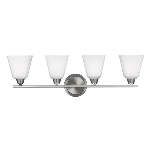 Sea Gull Lighting Sea Gull Lighting Parkfield Brushed Nickel Bathroom Light 4413004-962