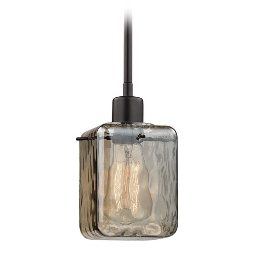 Elk Lighting Elk Lighting Watercube Oil Rubbed Bronze Mini-Pendant Light with Square Shade 46182/1