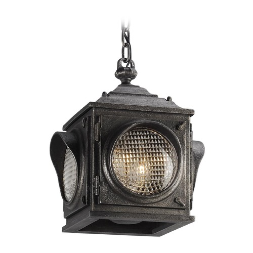 Troy Lighting Troy Lighting Main Street Aged Pewter Outdoor Hanging Light F4507