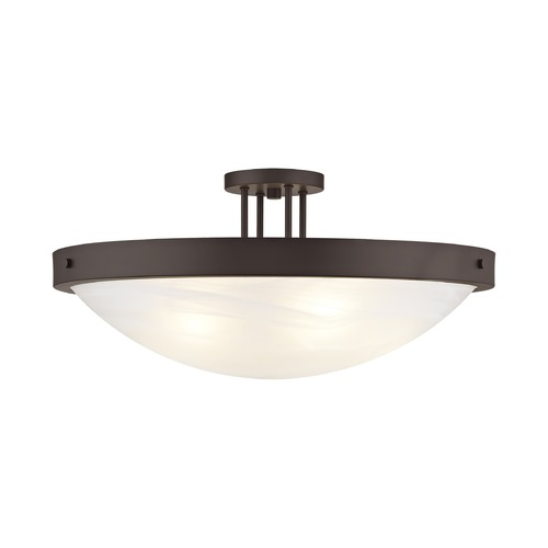 Livex Lighting Livex Lighting New Brighton Bronze Semi-Flushmount Light 73958-07