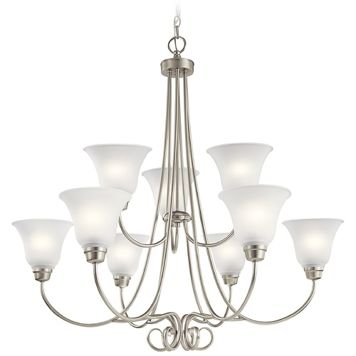 Kichler Lighting Kichler Lighting Bixler Brushed Nickel LED Chandelier 43939NIL16