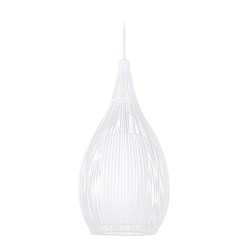 Eglo Lighting Eglo Razoni White Mini-Pendant Light with Cylindrical Shade 92251A
