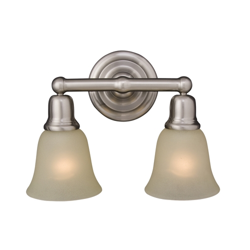 Maxim Lighting Bathroom Light with Beige / Cream Glass in Satin Nickel Finish 11087SVSN