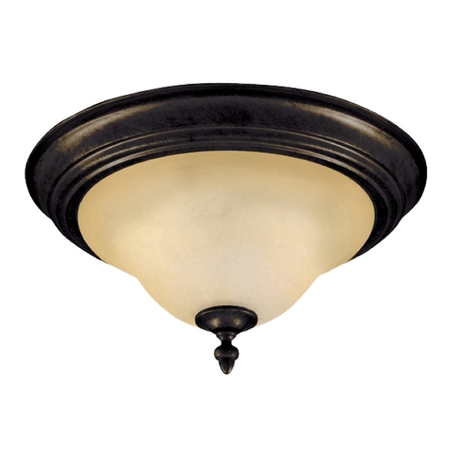 Maxim Lighting Flushmount Light with Beige / Cream Glass in Kentucky Bronze Finish 2650WSKB