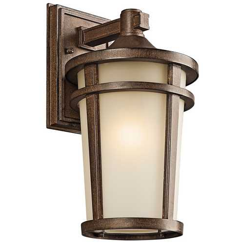 Kichler Lighting Kichler Outdoor Wall Light in Brown Stone Finish 49072BSTFL