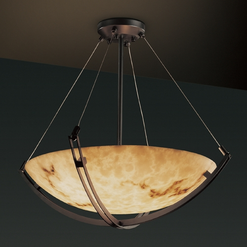 Justice Design Group Justice Design Group Lumenaria Collection Pendant Light FAL-9721-35-DBRZ