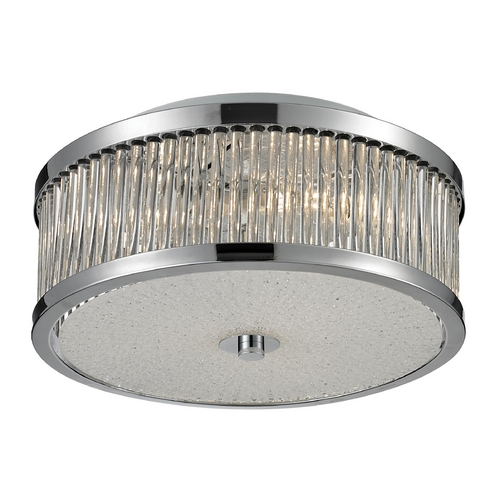 Elk Lighting Modern Flushmount Light in Chrome Finish 81040/3