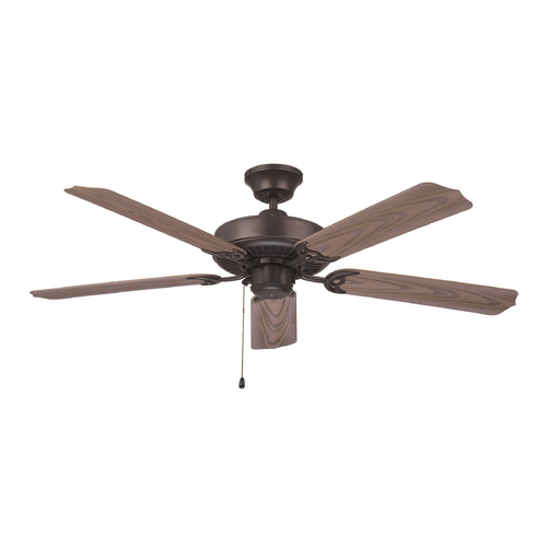 Ellington Fans Ceiling Fan Without Light in Aged Bronze Finish WOD52ABZ5X