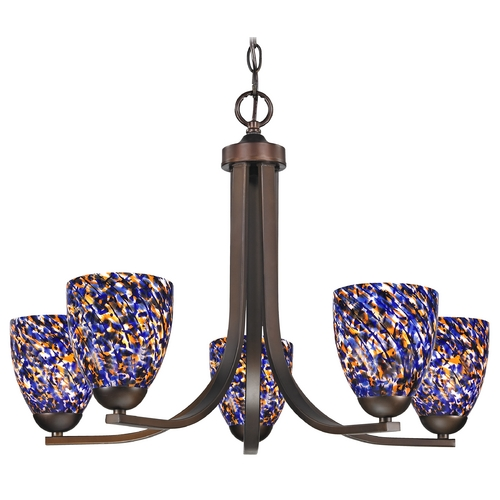 Design Classics Lighting Modern Chandelier in Neuvelle Bronze Finish 584-220 GL1009MB