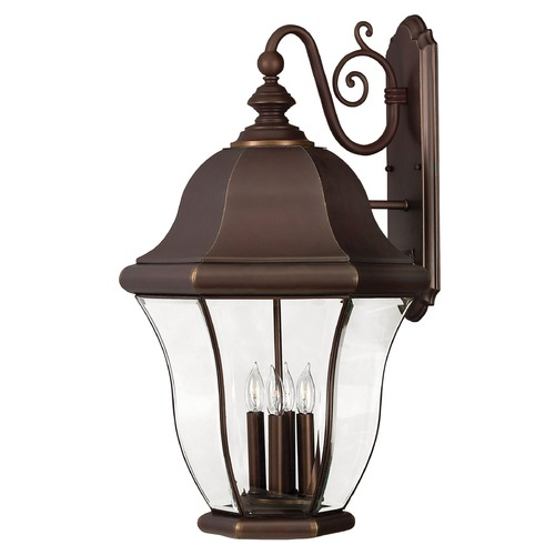Hinkley Outdoor Wall Light with Clear Glass in Copper Bronze Finish 2336CB