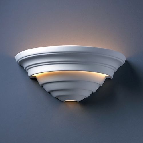 Justice Design Group Outdoor Wall Light in Bisque Finish CER-1555W-BIS