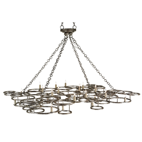 Currey and Company Lighting Currey and Company Lighting Annato Antique Silver Pendant Light 9988