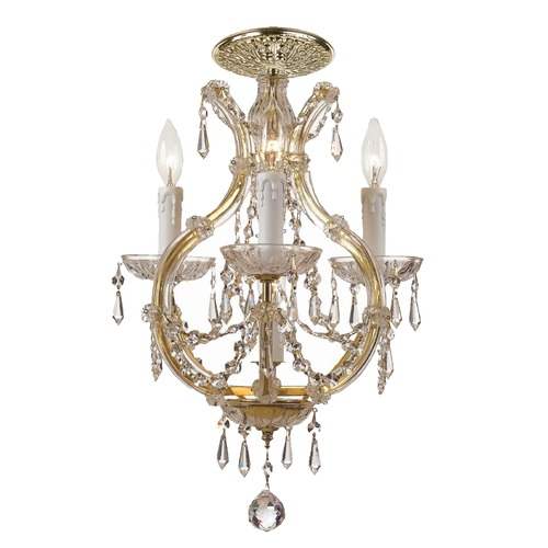 Crystorama Lighting Crystorama Lighting Maria Theresa Gold Semi-Flushmount Light 4473-GD-CL-S_CEILING