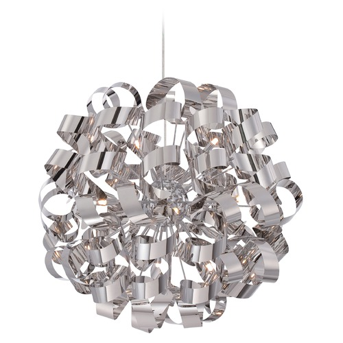 Quoizel Lighting Quoizel Ribbons Polished Chrome Pendant Light RBN2831C