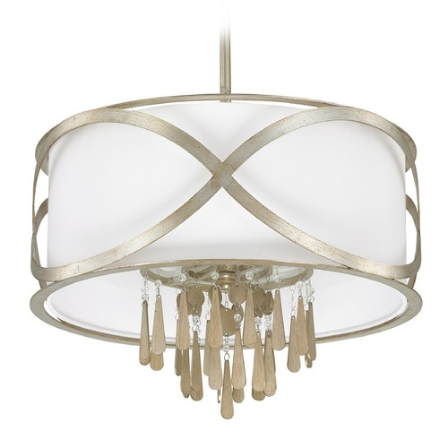 Capital Lighting Capital Lighting Berkeley Winter Gold Pendant Light with Drum Shade 4964WG-617