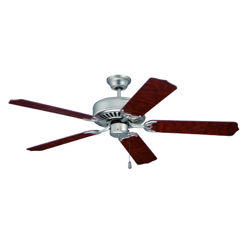 Craftmade Lighting Craftmade Pro Builder Brushed Satin Nickel Ceiling Fan Without Light K10436
