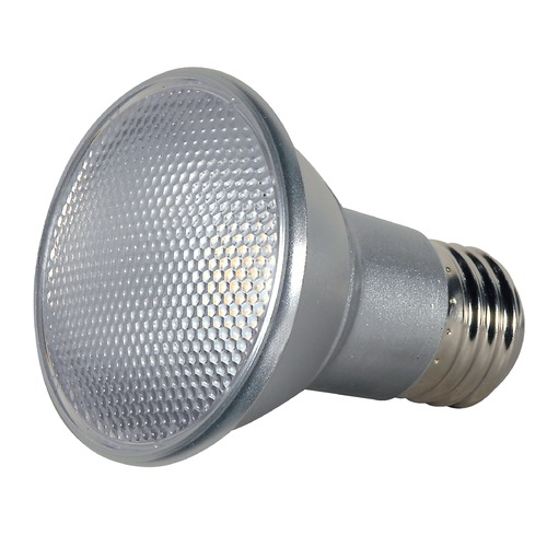 Satco Lighting 7W Medium Base LED Bulb PAR20 40 Degree Beam Spread 525LM 5000K Dimmable S9409