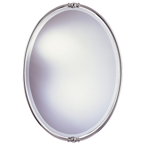 Feiss Lighting New London Oval 24-Inch Mirror MR1044PN