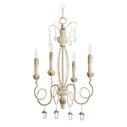 Quorum Lighting Quorum Lighting Venice Persian White Mini-Chandelier 6044-4-70