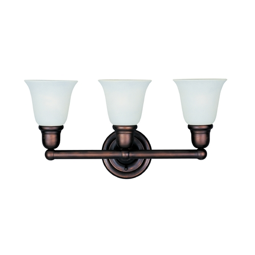 Maxim Lighting Bathroom Light with Beige / Cream Glass in Oil Rubbed Bronze Finish 11088SVOI