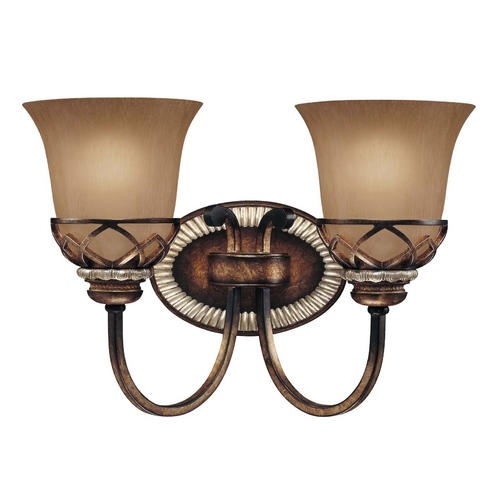 Minka Lavery Bathroom Light with Beige / Cream Glass in Aston Court Bronze Finish 5742-206