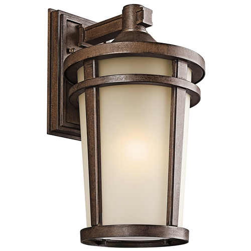 Kichler Lighting Kichler Outdoor Wall Light in Brown Stone Finish 49073BSTFL