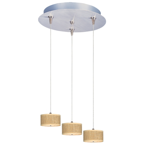 ET2 Lighting Modern Low Voltage Multi-Light Pendant Light with Brown Tones Shades and 3-Lights E95492-101SN