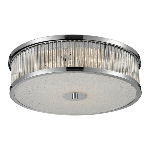 Elk Lighting Modern Flushmount Light in Chrome Finish 81041/4