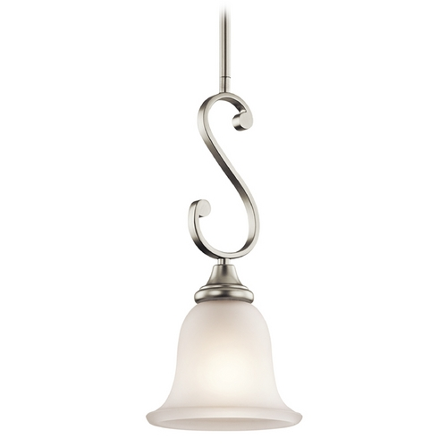 Kichler Lighting Kichler Mini-Pendant Light with White Glass 43162NI