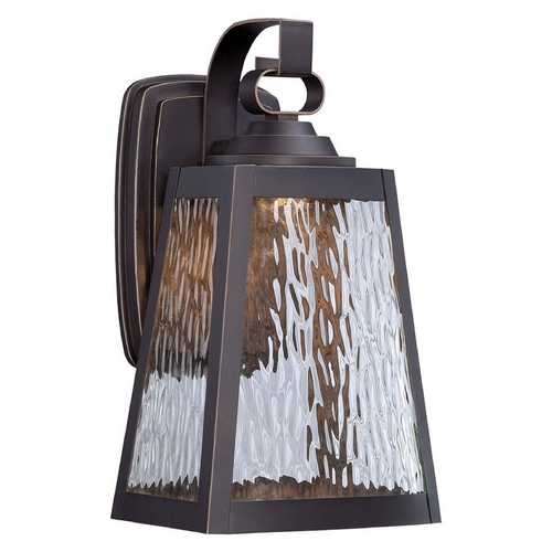Minka Lavery Minka Talera Outdoor Wall Light in Oil Rubbed Bronze & Gold Finish 73102-143C-L