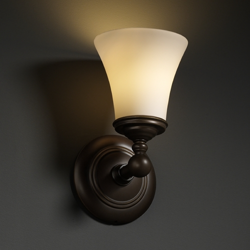 Justice Design Group Justice Design Group Fusion Collection Sconce FSN-8521-20-OPAL-DBRZ