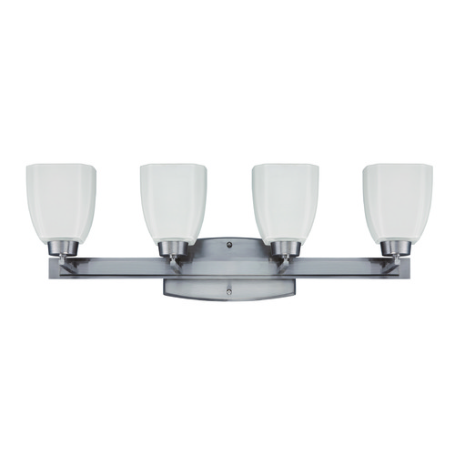 Jeremiah Lighting Jeremiah Bridwell Brushed Satin Nickel Bathroom Light 14728BNK4
