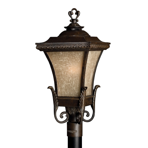 Hinkley Lighting Post Light with Amber Glass in Regency Bronze Finish 1931RB-GU24