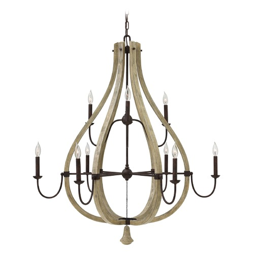 Fredrick Ramond Fredrick Ramond Middlefield Iron Rust with Weathered Ash Accents Chandelier FR40578IRR