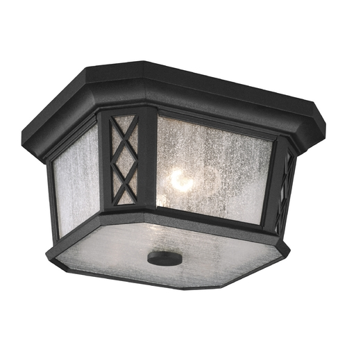 Feiss Lighting Seeded Glass Close To Ceiling Light Black Feiss Lighting OL9513TXB