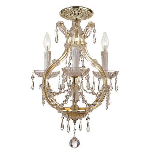 Crystorama Lighting Crystorama Lighting Maria Theresa Gold Semi-Flushmount Light 4473-GD-CL-SAQ_CEILING