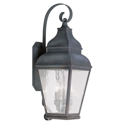 Livex Lighting Livex Lighting Exeter Charcoal Outdoor Wall Light 2605-61