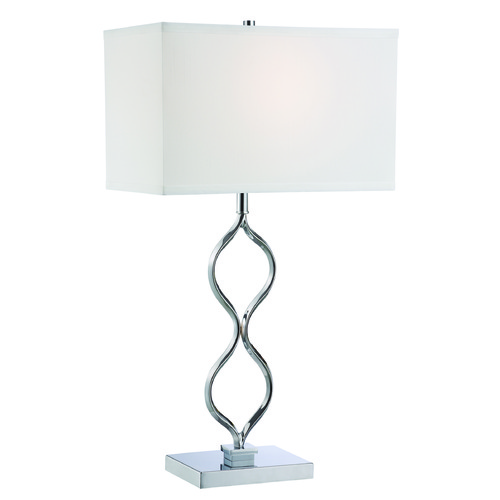Lite Source Lighting Lite Source Sheena Chrome Table Lamp with Rectangle Shade LS-22386