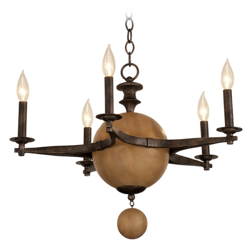 Kalco Lighting Kalco Lighting Hampton Florence Gold Chandelier 2937FG
