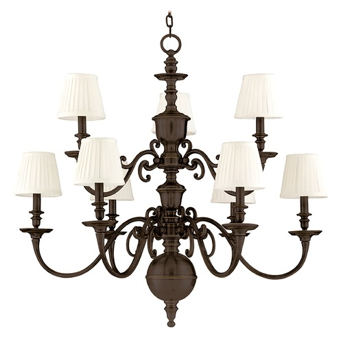 Hudson Valley Lighting Hudson Valley Charleston 2-Tier 9-Light Chandelier in Old Bronze 1749-OB