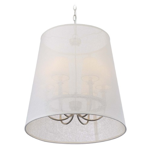 Crystorama Lighting Crystorama Lighting Culver Polished Nickel Pendant Light with Empire Shade 2296-PN