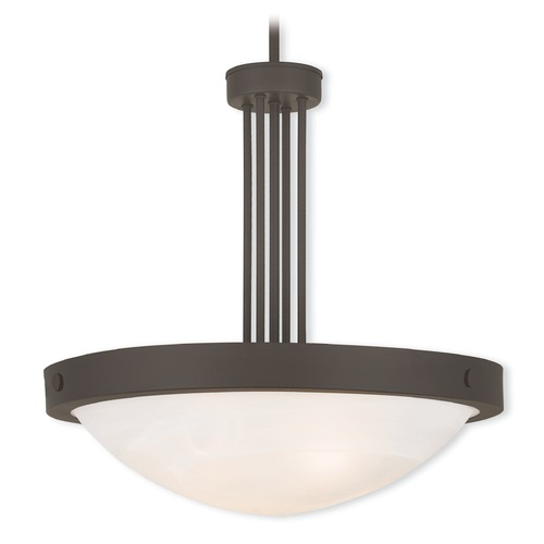 Livex Lighting Livex Lighting New Brighton Bronze Pendant Light with Bowl / Dome Shade 73964-07