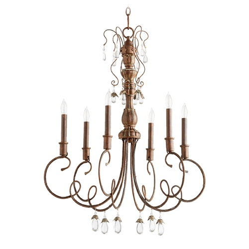 Quorum Lighting Quorum Lighting Venice Vintage Copper Chandelier 6044-6-39