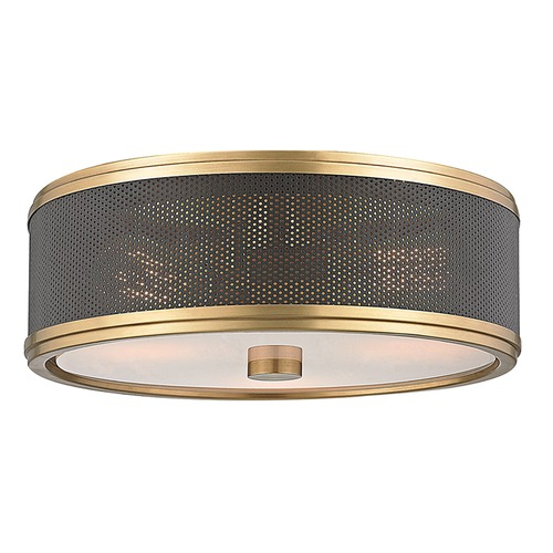 Hudson Valley Lighting Hudson Valley Lighting Fraser Aged Brass Semi-Flushmount Light 6814-AGB