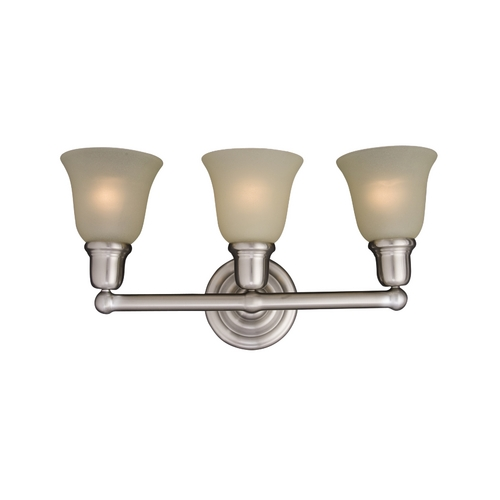 Maxim Lighting Bathroom Light with Beige / Cream Glass in Satin Nickel Finish 11088SVSN