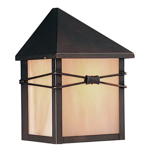 Maxim Lighting Outdoor Wall Light with Iridescent Glass in Burnished Finish 8041IRBU