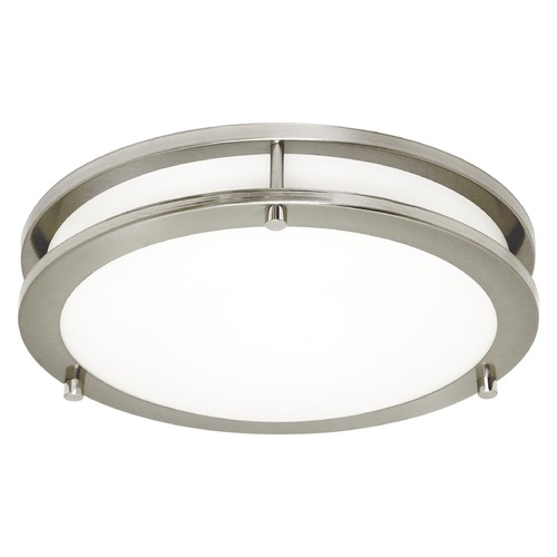 Sea Gull Lighting Sea Gull Lighting Mahone Brushed Nickel LED Flushmount Light 7750893S-962